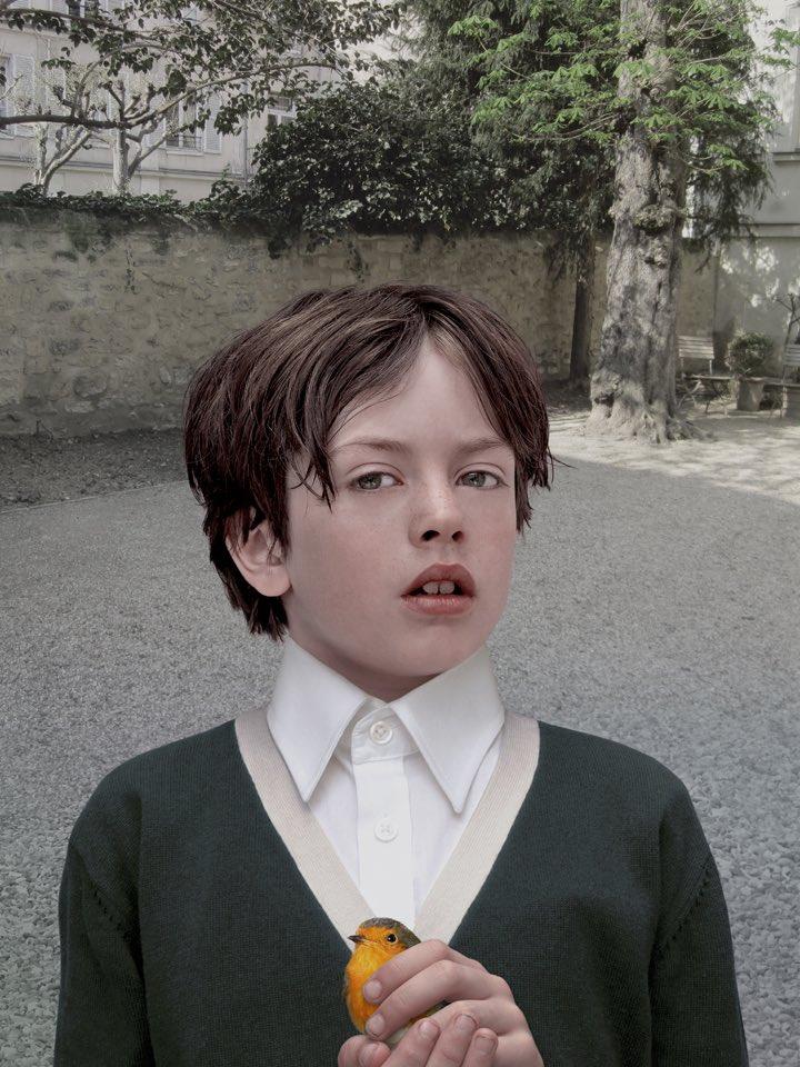 Boy with Robin, lambdaprint, 2013