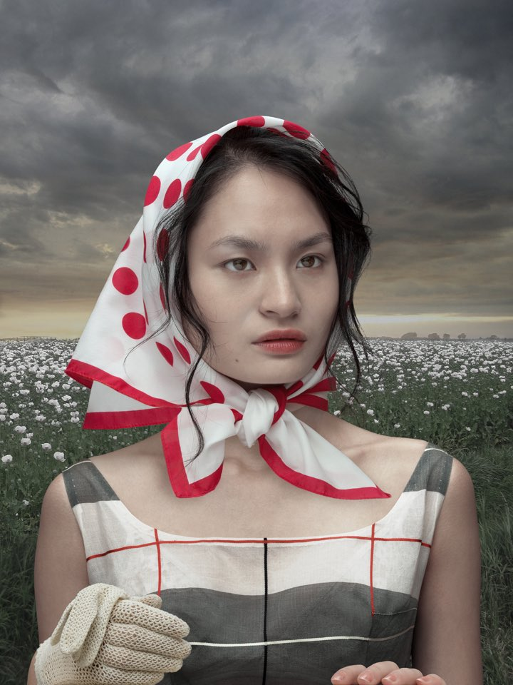 Girl with Poppies, lambdaprint, 2012